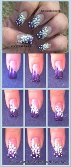 White Flowers Purple French Nail Art Tutorial   UÑAS   Pinterest ... Emejing Cute And Easy Nail Designs To Do At Home Images Interior 10 Art For Beginners The Ultimate Guide 4 Step By Learning Steps Top 60 Design Tutorials For Short Nails 2017 Super Bystep Fall Fashionsycom And Best Ideas How I Did This In Single Art Simple Designs Step How You Can Do It At Home Islaay Uk Beauty Fashion Nail Blog Cath Kidston Different By Easy Ideas G Cool Simple Elegant