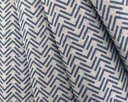 Navy Geometric Pattern Curtains by Navy Blue Curtains Etsy