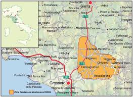 Map Over Montecucco In Tuscany