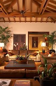 Ceiling Plants Living Room Tropical With Coffee Table Rustic Doors