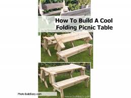 how to build a cool folding picnic table eiffel laptop