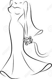 Wedding Dress clipart womens dress 4