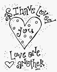 All Vibrant Idea Love One Another Coloring Page