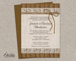 DIY Printable Rustic Vow Renewal Invitations With Burlap And
