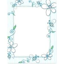 Paper Border Designs Printable 5 Professional Imagine Papers Bee Free