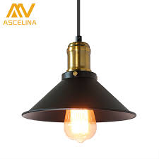 ASCELINA American Retro Industrial Wind Style Pendant Lights Creative Rustic Hanging Lamps Bar Cafe Restaurant Iron E27 In From