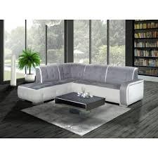 top deco bapeaume les rouen canapé d angle gauche florida gris et blanc top déco