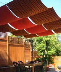 Diy Roll Up Patio Shades by Love The Idea Of Using A Retractable Awning In A Different Way