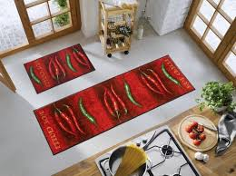 grand tapis cuisine tapis chili décor piments wash by kleen tex