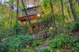 100 Tree Houses With Hot Tubs Cabins In Helen GA Pet Friendly The House At Bear Creek