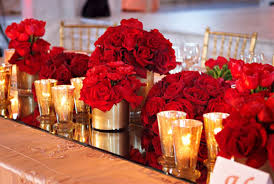 Trend Red Gold Wedding Decorations 19 In Dessert Table With