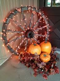 Get The Autumn Porch Decor With Pumpkin And Lighted