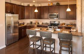 Drees Homes Floor Plans by Kitchen With Dark Cabinets An Island And Hardwood Floors The