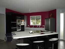 cuisine mur framboise décoration peinture cuisine framboise et gris 97 villeurbanne
