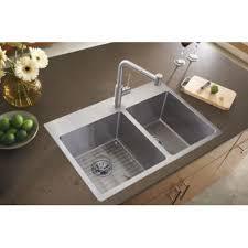 Elkay Crosstown Bar Sink by Elkay Ectsro33229rbg Crosstown Double Bowl Drop In Kitchen Sink