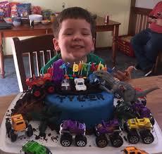 100 Dinosaur Monster Truck Truck Vs Cake For Tyler Birthday Cakes By Me