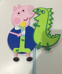Peppa Pig George Pumpkin Stencil by Peppa Pig George And Dinosaur Cake Topper Cake By Craftophologie