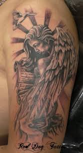 Angel Face Tattoo Design Photo