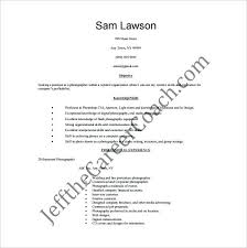 Photography Resume Sample Artist Examples Click Here To Download The Version Of My
