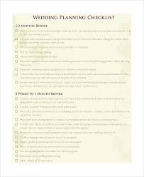 Printable Wedding Checklist Sample