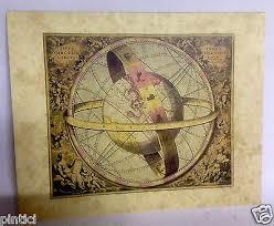 weltkarte wandschild wandbild vintage style kunstdruck bild