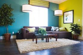 Teal Living Room Set by Winsome Coloring Living Room Design By Blue And Yellow Wall Paint