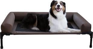 Bolster Dog Bed by K U0026h Pet Products Original Bolster Dog U0026 Cat Cot Large Chocolate