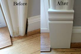 Laminate Floor Transitions Doorway by Add A Plinth Block To Door Trim For A Finished Look Door Trims