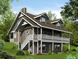 100 Downslope House Designs Plan 35507GH Porches Front And Back Homes Basement House Plans