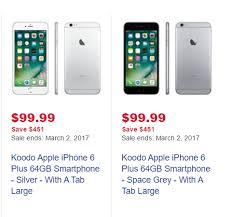 Best Buy] Koodo iPhone 6 Plus 64G $99 down $504 tab RedFlagDeals