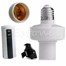 new e27 wireless remote light l bulb holder cap