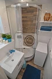 fototapete kleines badezimmer mit dusche