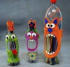 Art And Craft Ideas With Plastic Bottles Recycled Crafts For Kids