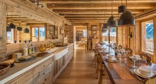 cuisine style chalet merveilleux deco style chalet moderne 3 rideaux cuisine style