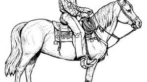 Realistic Western Horse Coloring Pages Gallery