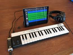105 Inch IPad Pro With IRig Keys And Apogee Jam