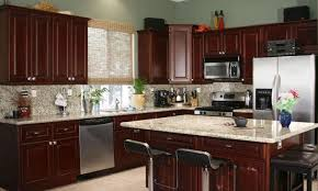 Dark Wood Cabinet Kitchens Colors Kitchen Colors With Cherry Cabinets U2014 Desjar Interior