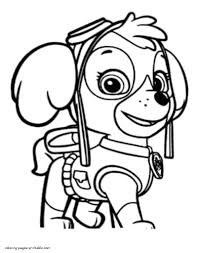 Paw Patrol Coloring Pages Adorable Skye Page 3 805x1024 Sky