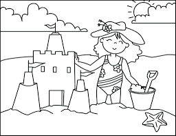 Free Printable Summer Coloring Pages For Adults Pictures Toddlers Beach Cool Page Full Size