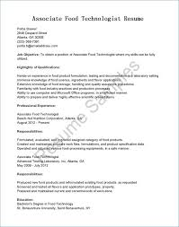 Lab Tech Resume Awesome Process Technician Sample Of