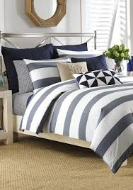 Kenneth Cole Bedding by Nautica Lawndale Navy Bedding Collection Online Only Belk