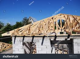 100 House Trusses Roof Roofing Construction Roof Stock Photo