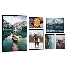 posterset deko bilder 6er kunstdruck wohnzimmer schlafzimmer wandgalerie natur