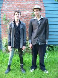 my prom photo i went with another male ironically and yes his