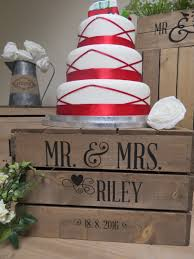 Personalised Rustic Wooden Apple Crate Cake Stand