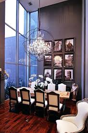 Chandelier High Ceiling Best Orb Images On Dining Within For Prepare