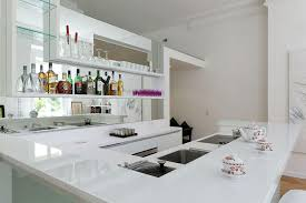 plan de travail cuisine blanc cuisine lineaquattro en verre blanc