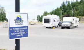 Signs Are Now Up Prohibiting Overnight Camping At Treasure Cove Casino In Response To Lobbying From Local RV Parks RVers Can Still Park Their Rigs There