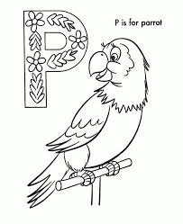 P Is For Parrot Coloring Pages