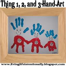 Thing And 3 Hand Art Project Perfect Craft For DrSeuss